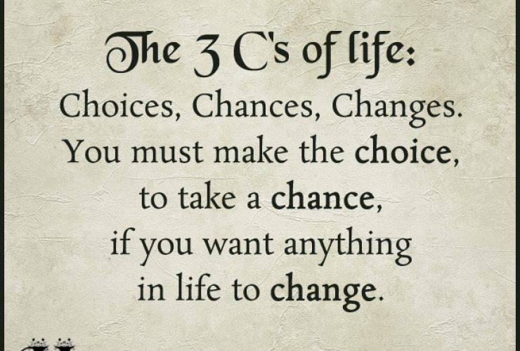The three C's.